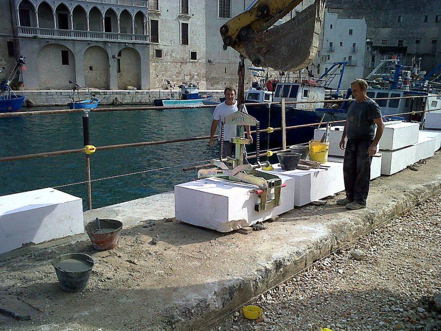 Lyftsax för större betongelement